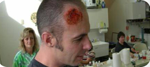 moulage for disaster scenarios training